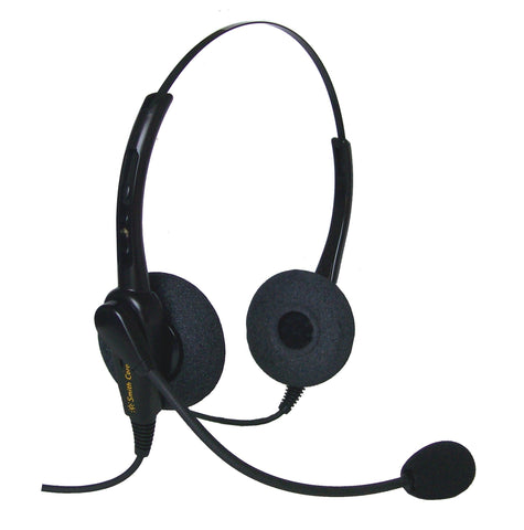 Smith Corona Classic Binaural Headset w/USB Bottom Cord - For use on computers