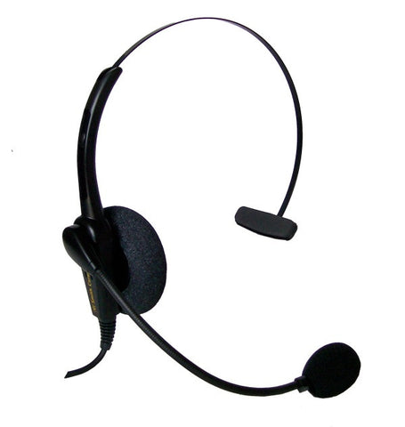 Smith Corona Classic Monaural Headset w/ USB Bottom Cord - for use on computers