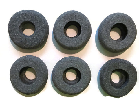 Gray Foam Ear Pads with Hole - QUANTITY OF 6 EAR PADS WITH ORDER