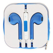 3.5mm in ear headphones blue