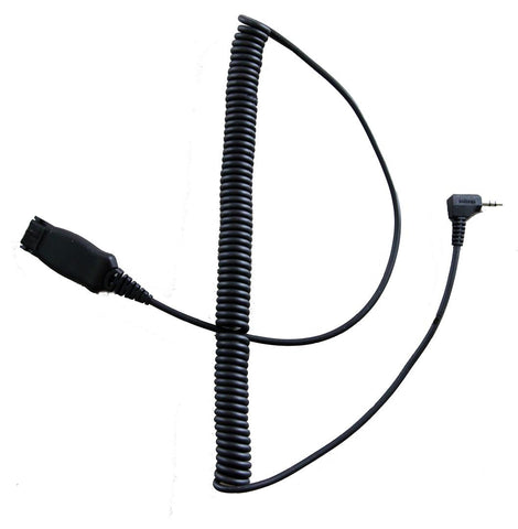IPN104 Quick Disconnect 3.5mm Cable, 90 degree plug - 3 ring - Headset World USA - Your Headset Solutions