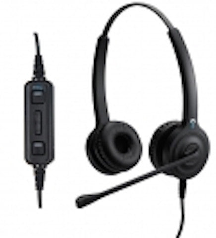 IPN H85D Binaural USB Headset - for use on your computers - Headset World USA - Your Headset Solutions
