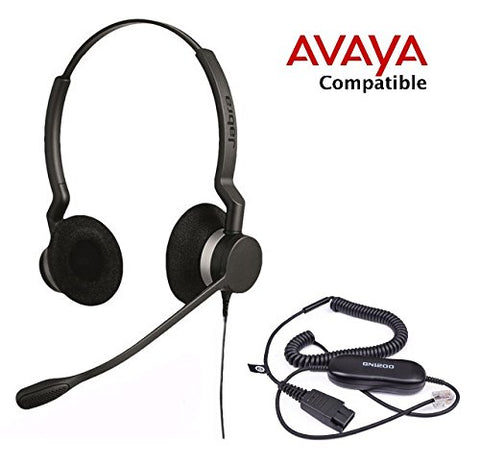Avaya Compatible Jabra Biz 2300 DUO Bundle - Headset and Avaya Cord - Headset World USA - Your Headset Solutions