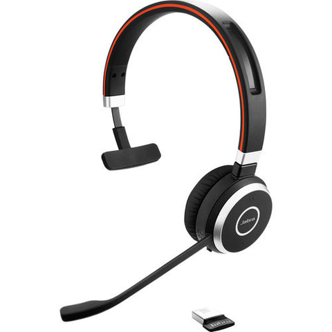 Jabra EVOLVE 65 UC MONO Bluetooth Headset 6593-829-409 - CONTACT US FOR SPECIAL PRICING OFFERS! - Headset World USA - Your Headset Solutions
