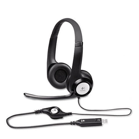 Logitech H390 Binaural USB Headset - 981-000014 - Straight corded USB, NO QD - Headset World USA - Your Headset Solutions