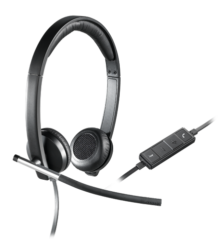 Logitech USB H650e Stereo Headset 981-000518 - Headset World USA - Your Headset Solutions