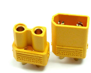 LIPO XT30 Pair Yellow Plugs