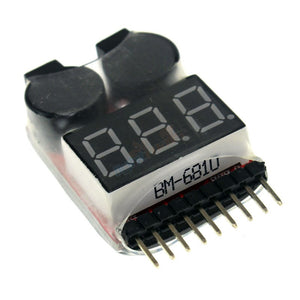 2 in 1 Battery Voltage Tester Alarm 1S-8S