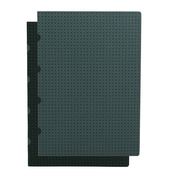Set of 2 Black and Grey Grid Notebooks - Juniper & Scout