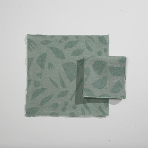 Seaglass Mini Decon Floral Cocktail Napkins - Juniper & Scout