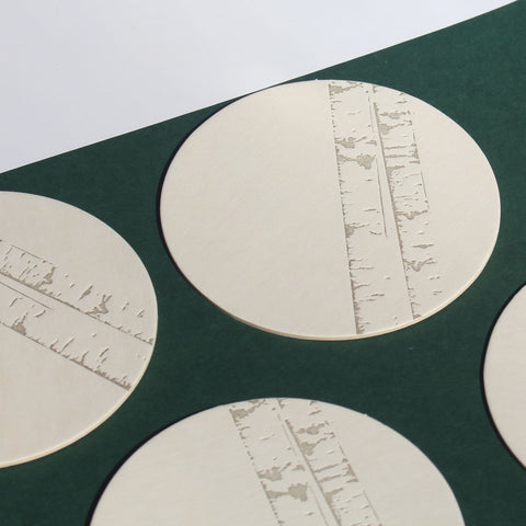 Letterpress Birch Tree Coaster Set