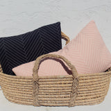 Rose Herringbone Pillow - Juniper & Scout