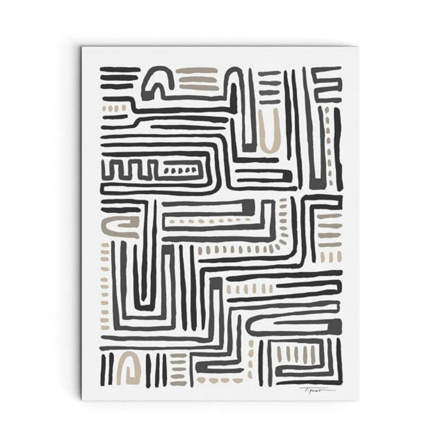 Large Abstract Arch Pattern Print - Juniper & Scout