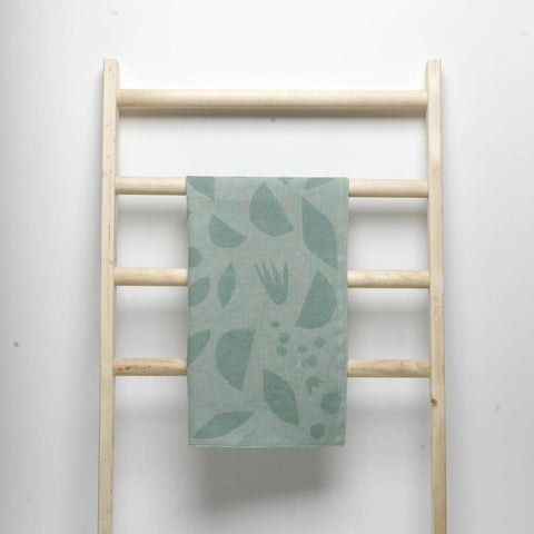 Seaglass Decon Flora Linen tea Towel