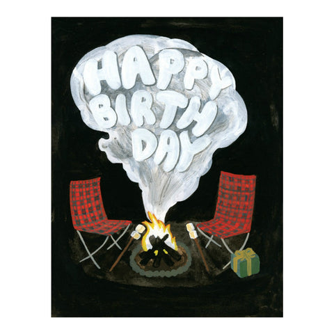 Campfire Birthday Card