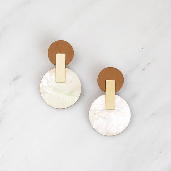 Celeste Earrings in Mother of Pearl - Juniper & Scout