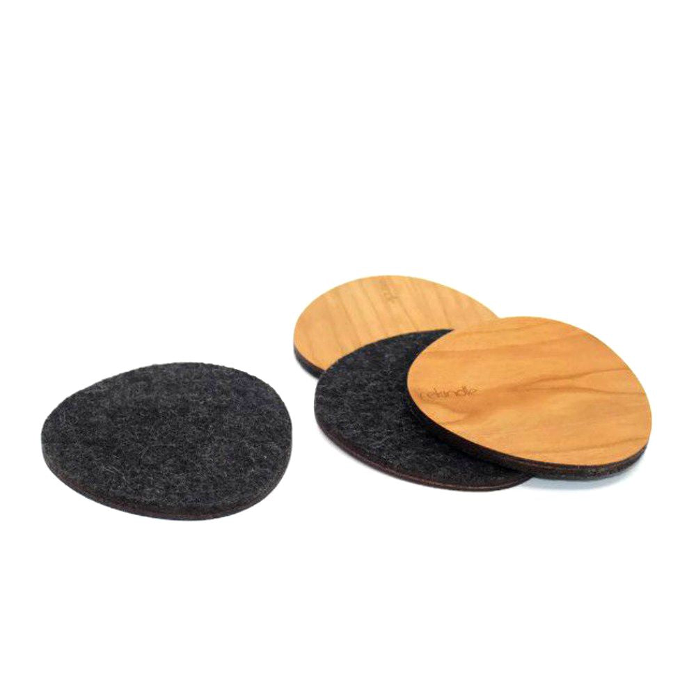 Wool and Wood Coasters - Juniper & Scout