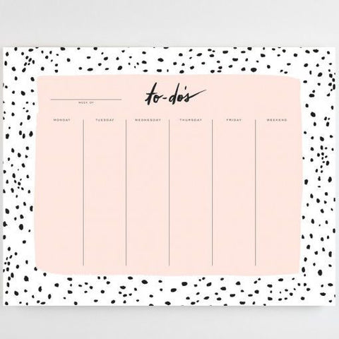 Speckled Weekly Planner