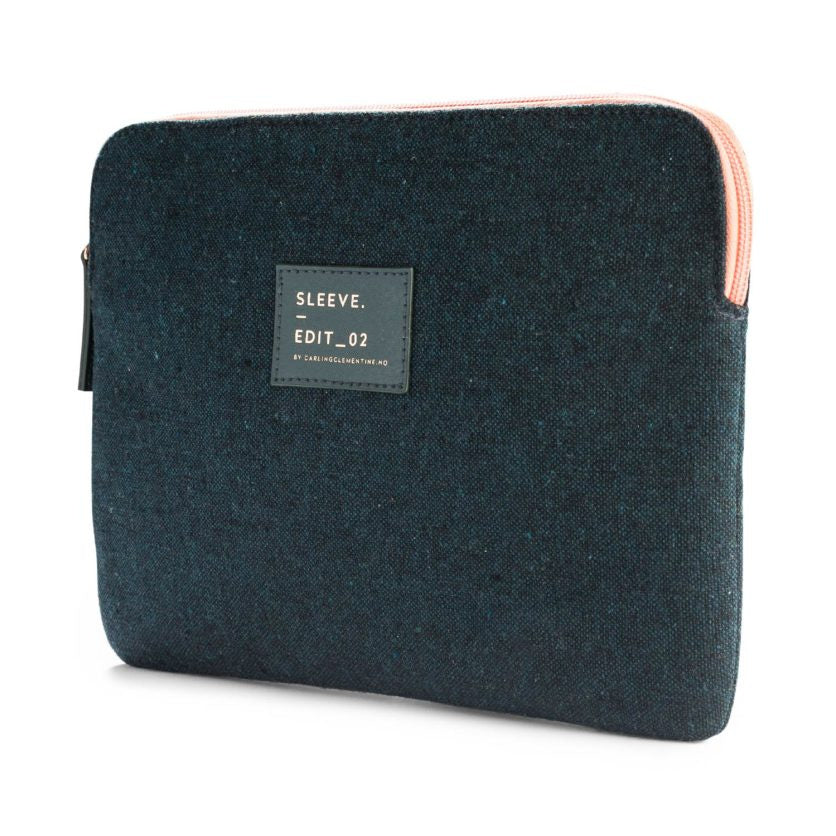 Dark Green Canvas Tablet Sleeve - Juniper & Scout