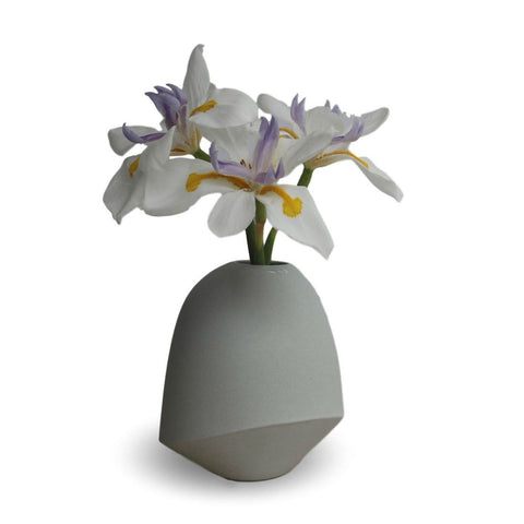 Light Grey Birdie Vase