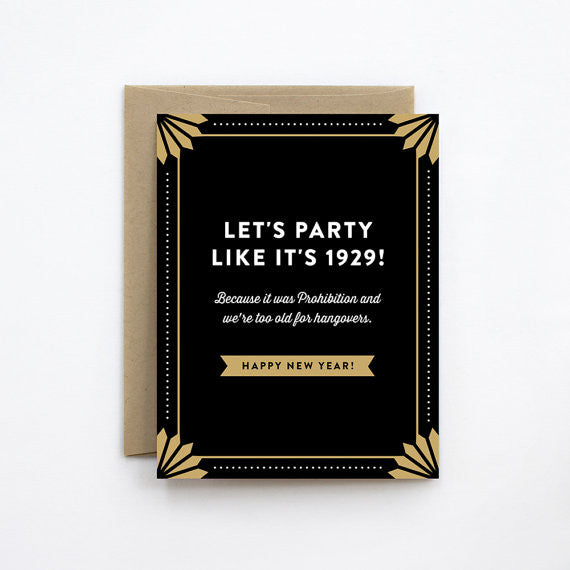 Party Like It's 1929 Card