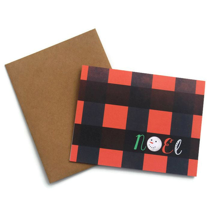 Plaid Noel Card - Juniper & Scout