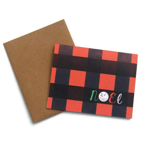 Plaid Noel Card
