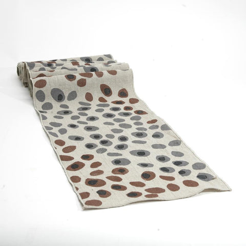 Pebbles Linen Table Runner
