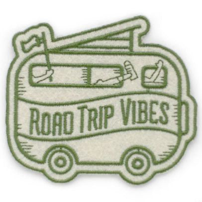 Road Trip Vibes Felt Sticker Patch