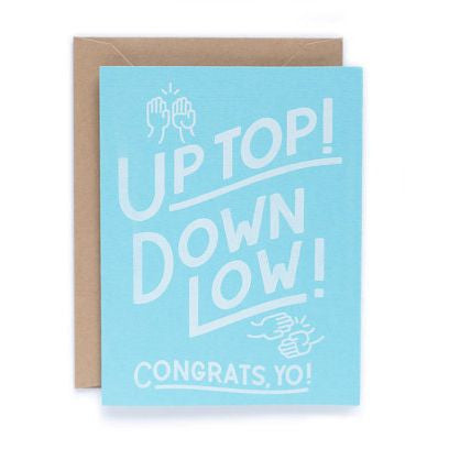 Up Top Congrats Card