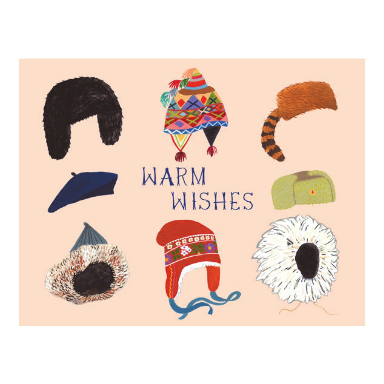 Warm Wishes Hats Card - Juniper & Scout