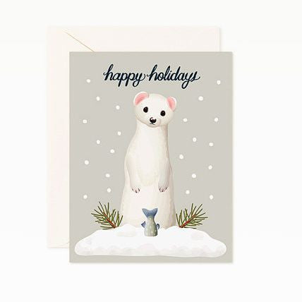 Weasel Holiday Card