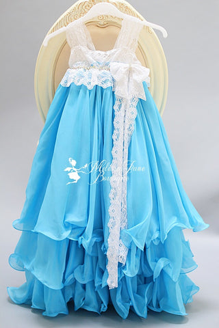 Aqua Shall We Dance Girls Dress - MelissaJane Designs