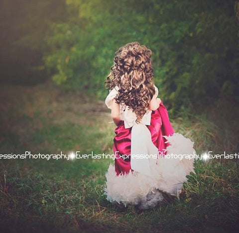 Girls Red Feather Dress
