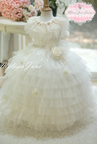 Couture Ruffled Girls Dress