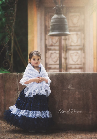 Girl Feather Dress and shawl