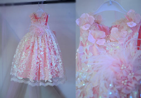 Pink Simmer Flower Girl dress