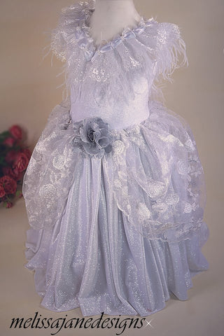 girls silver Christmas dress