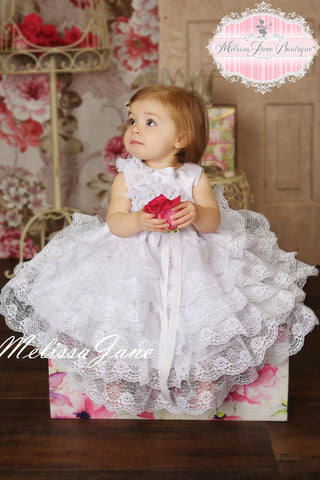 Be My Baby Princess White Dress - MelissaJane Designs