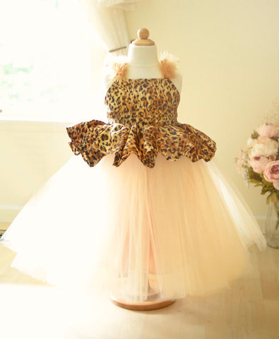 leopard print girls dress