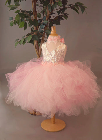 pink and silver tutu dress girls