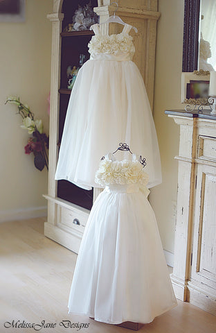 Ivory Ruffled Flower Girl Dress