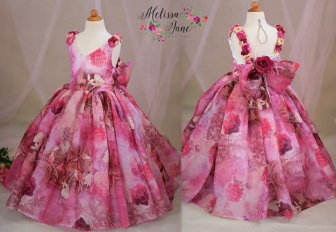 Pretty in Pinks Girls Couture Gown Dress