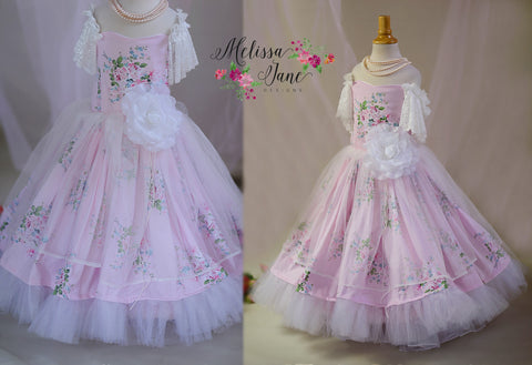 Shabby Chic Sweet Elegant Floral Girls Dress