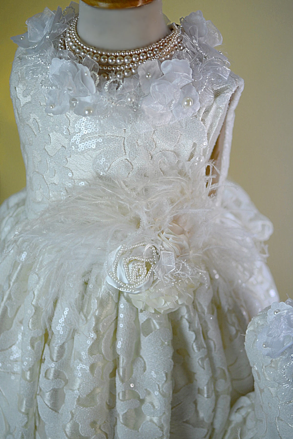 Shimmer Sparkle Flower Girl Dress