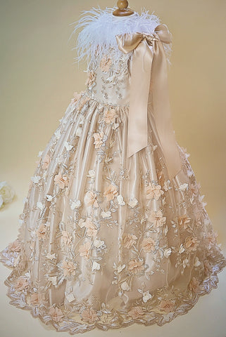 Duchess Floral Girls Couture Gown