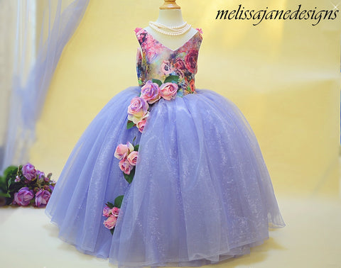 lavender tulle girls dress