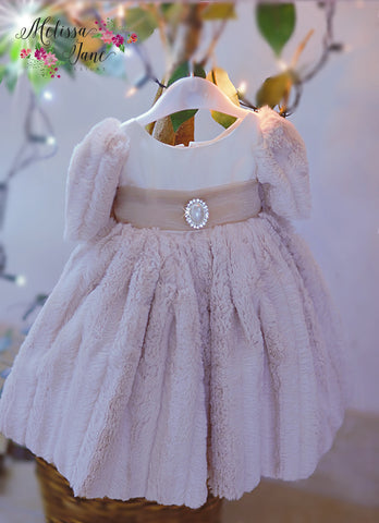 Baby's Girls Minky Luxury Fur Dress - MelissaJane Designs