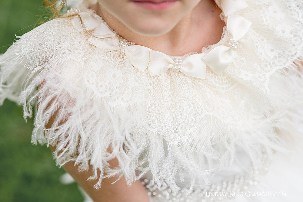 Couture Fairy Dream Girls Ostrich Feather Layered Princess