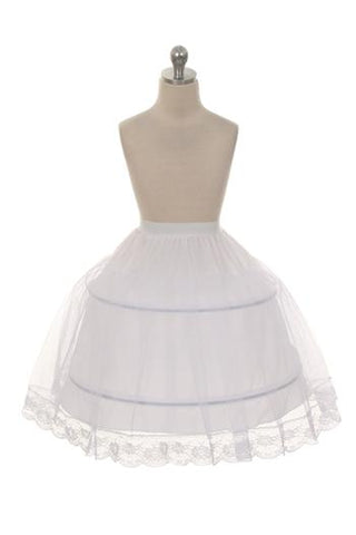 New - Girls Hoop Petticoat White